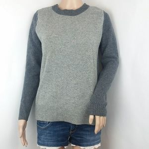 J.crew Gray Colorblock Crewneck Sweater XS